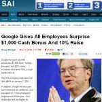 Demitido funcionário do Google que vazou e-mail sobre aumento.