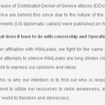 Cyber-Ativistas Atacam Instituições que se Opuseram ao Autor do Wikileaks
