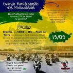 13/03 – Protesto de motociclistas em Brasília