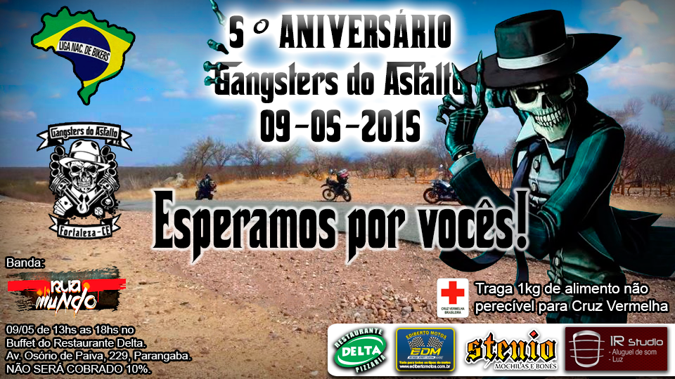 Cartaz aniversario Gangsters do Asfalto