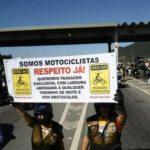 Manifestação de motofretistas em São Paulo ocupa Avenida 23 de Maio