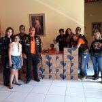 Anonymous Moto Grupo (AMG) e Amigos Anonymous entregam 312 litros de leite os idosos do Lar Bom Samaritano, em Beberibe-CE.