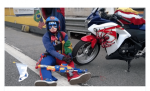 PRF apreende motocicleta de 'super-heróis' na Ponte Rio-Niterói