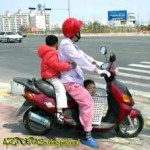 Lei que limita o transporte de criança em moto não é respeitada e nem fiscalizada