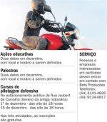 'Pilote a seu favor' quer reduzir acidentes com motocicletas