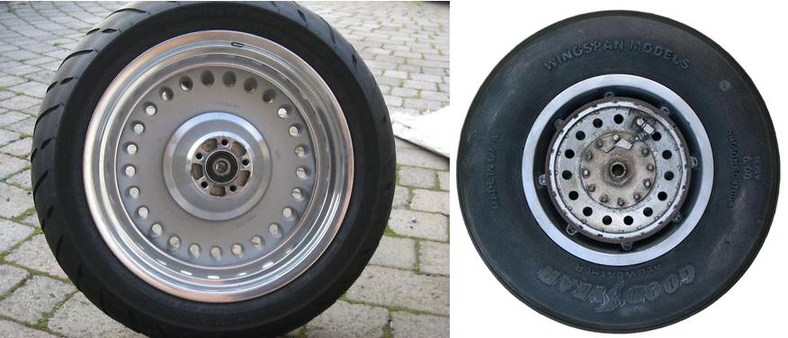 Seriam as rodas uma versão das usadas no trem de pouso B-29