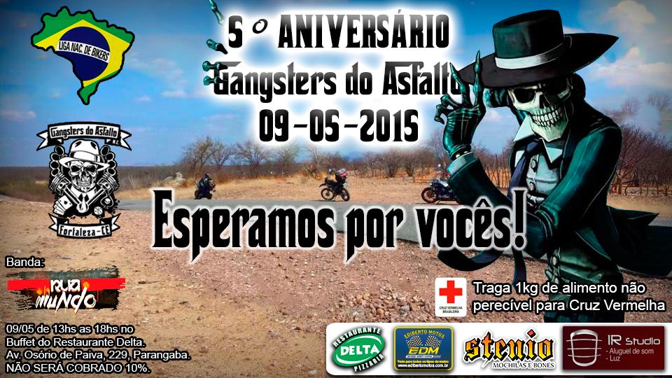 Cartaz aniversario Gangsters do Asfalto