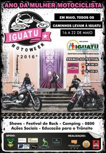 Iguatu Moto Week 2016: Cartaz do evento homenageia a mulher motociclista
