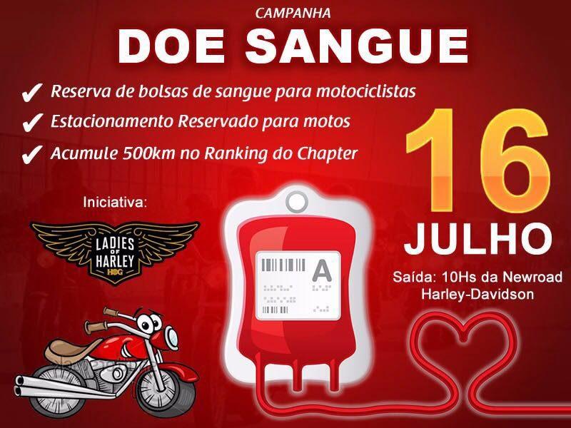 Ladies of Harley de Fortaleza fará uma campanha de doação no dia 16/07