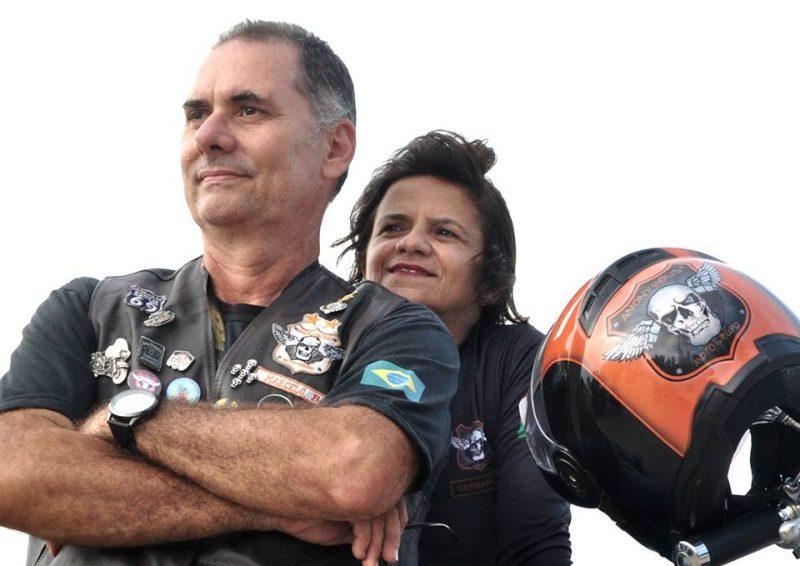 O empresário Marcelo Lira e sua esposa, também motociclista, Germana de Menezes.